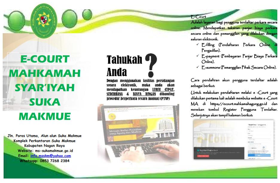 Tahukah anda keuntungan berperkara menggunakan e-Court?