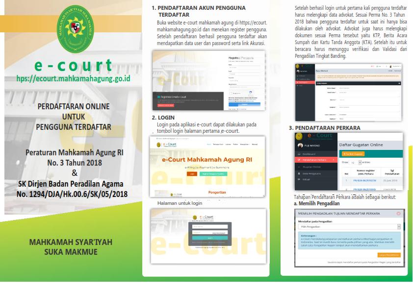 Tahapan Pendaftaran Perkara dengan e-Court
